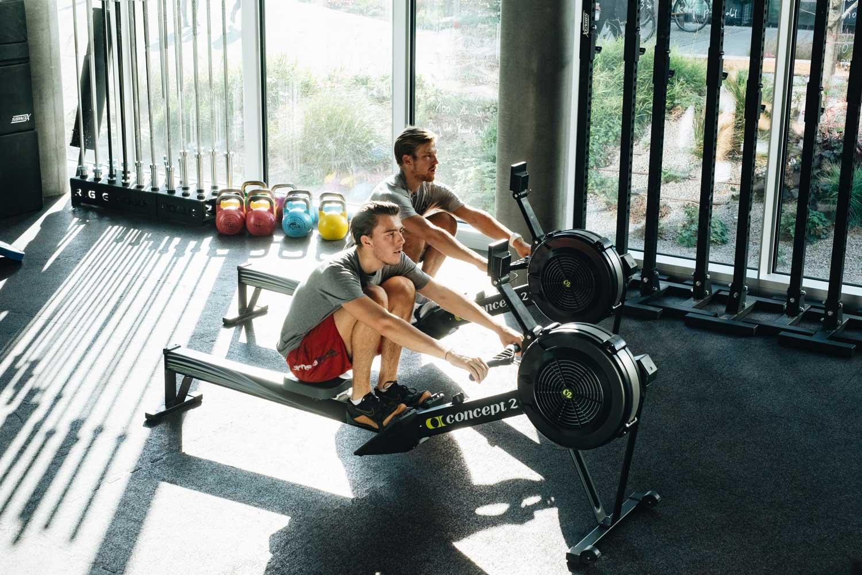 Rudern CrossFit Gerät Aufwärmen