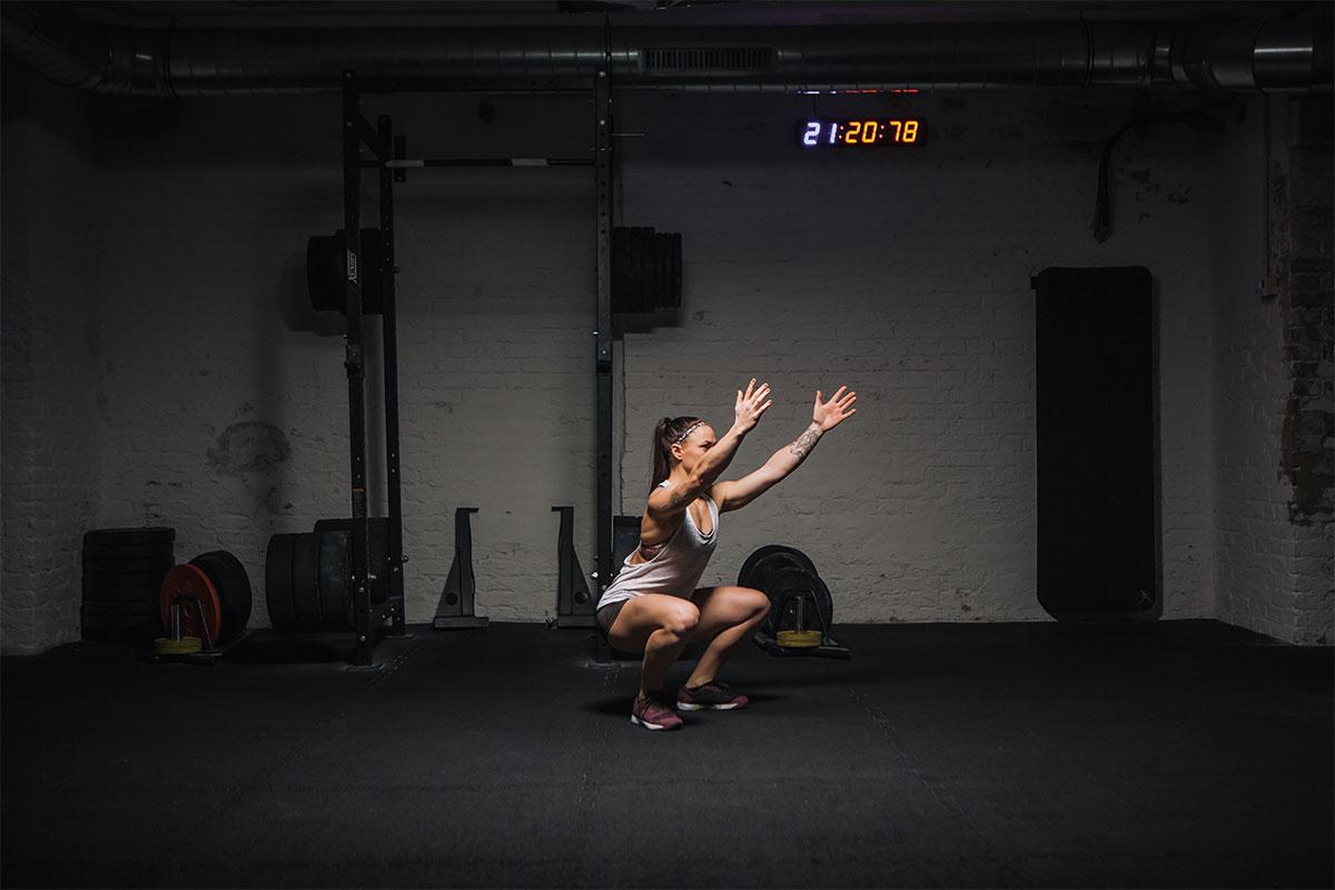 air squat richtig ausführen tiefer stand