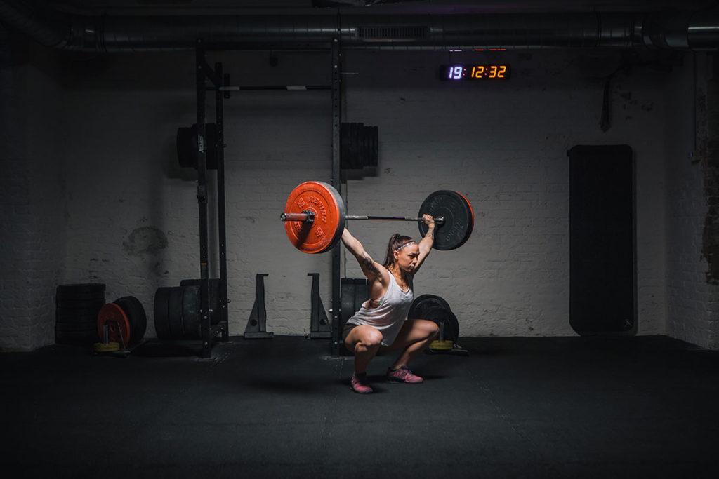 overhead squat richtig ausführen position unten