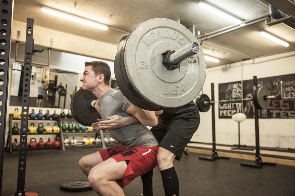 crossfit test squat zone combine 2020 leistungstest
