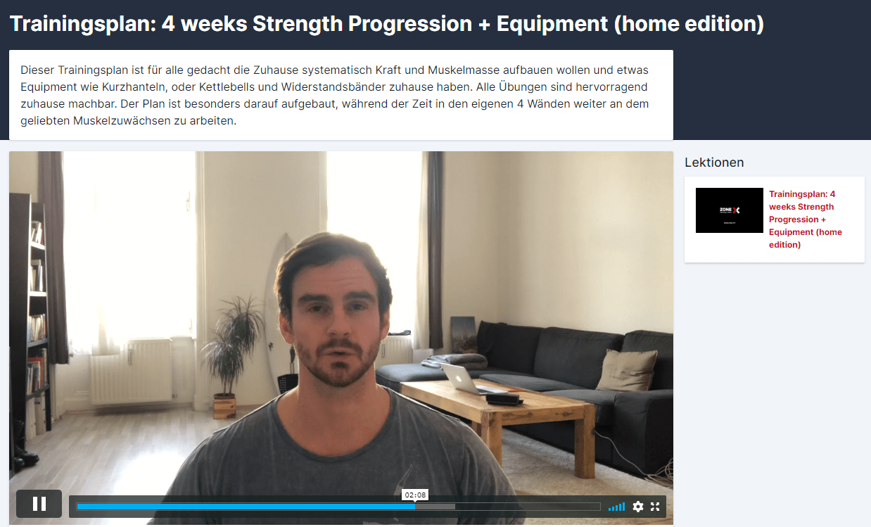 zone academy trainingspläne online home workout