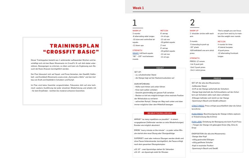 CrossFit trainingsplan einsteiger