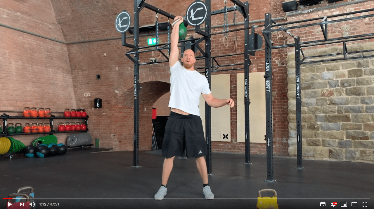 kettlebell clean and jerk howto ausfuehrung