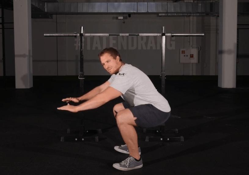 Kniebeuge verbessern sprunggelenksmobilität