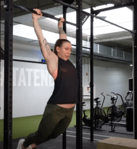 arch position kipping pull up